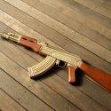 ak-47 rifle gold