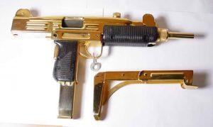 uzi machine gun gold