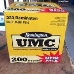 Remington UMC .223 200 Round Mega Pack
